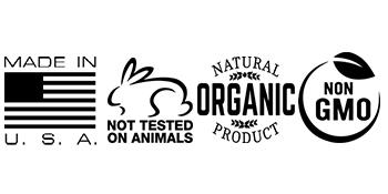 Made in USA, Cruelty Free, 100% Organic, NON GMO
