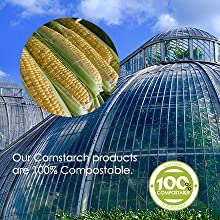 100% compostable, corn
