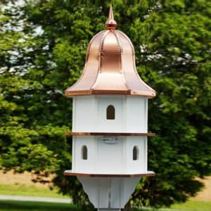 large copper top poly bird house