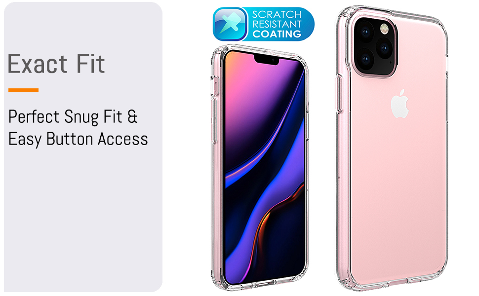 """iPhone 11 Pro 5.8"""" inch Exact Fit  Perfect Snug Fit & Easy Button Access"""