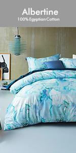 aqua blue duvet cover set