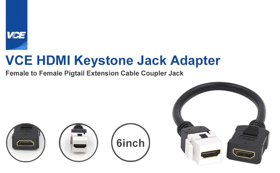 hdmi keystone cable