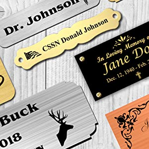 enmengraving custom name plates