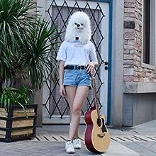 White poodle mask