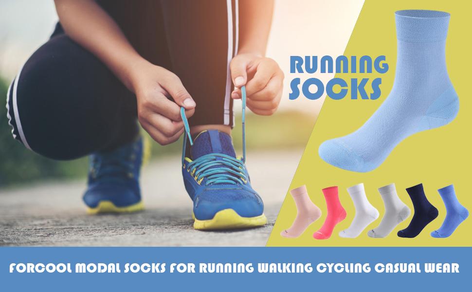 modal socks breathable running hiking crew socks casual dress socks