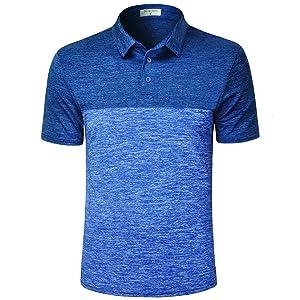 color block patchwork heather golf shirt