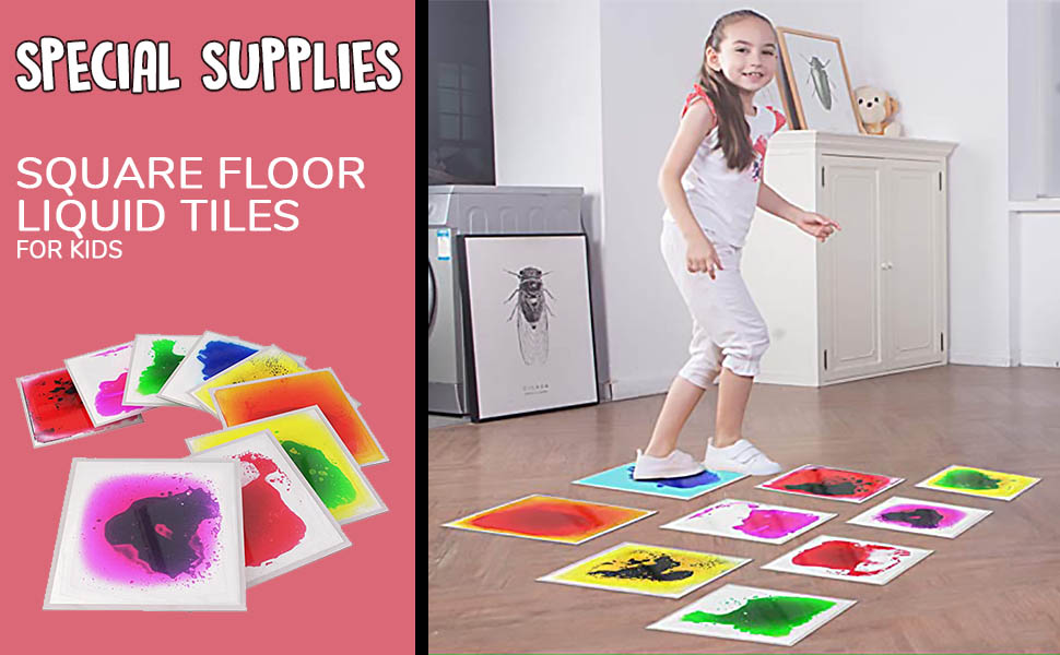 Square Floor Liquid Tiles for kids
