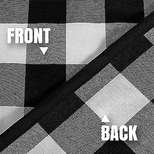 Black & white check plaid pattern