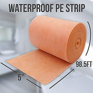 waterproofing band strip shower wall seam recess niche