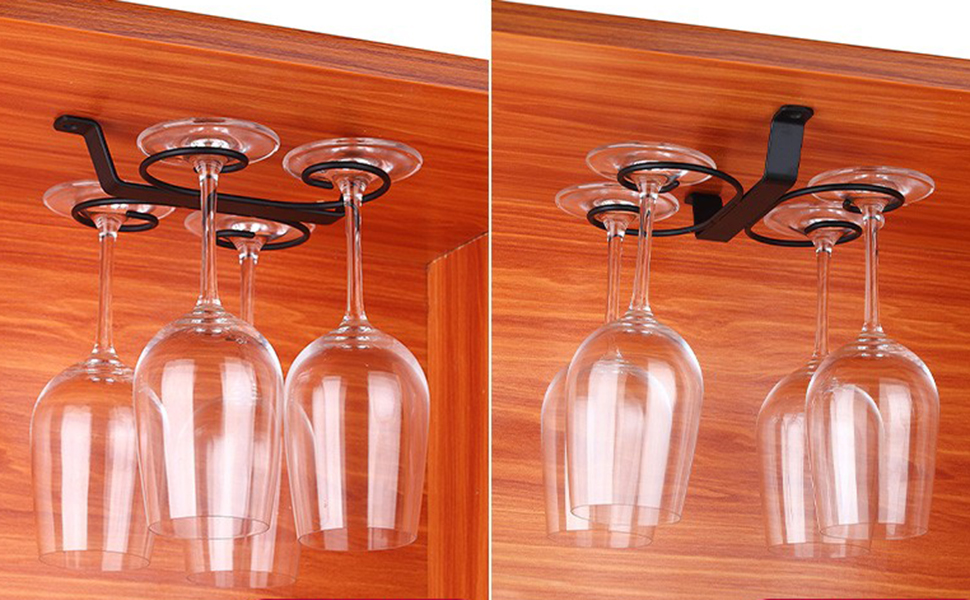 Under Cabinet Wine Glass Holder