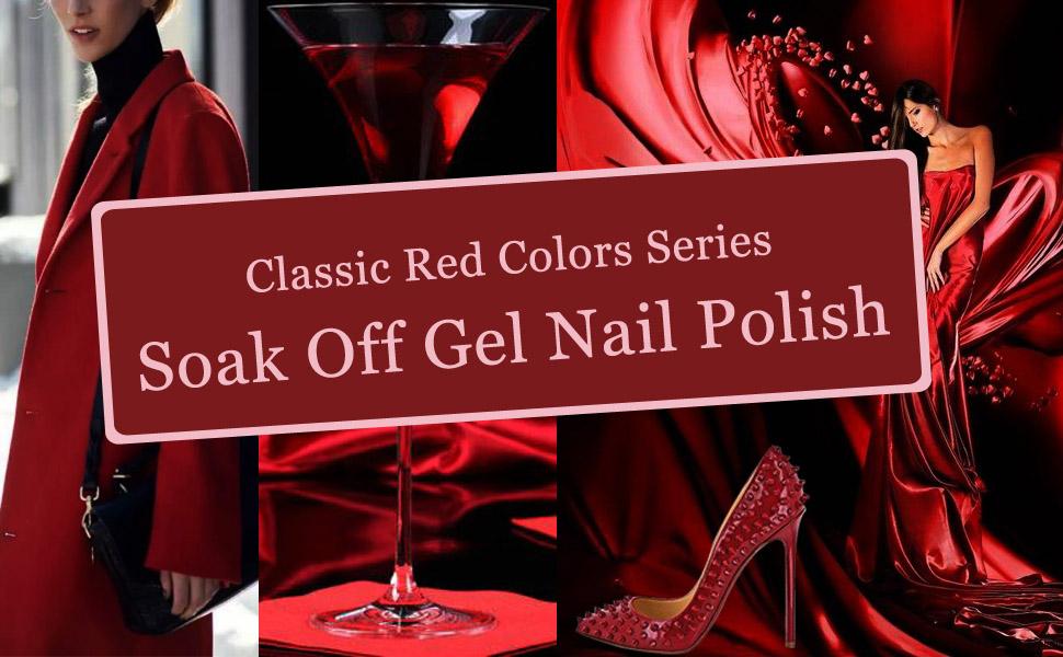 red color gel polish