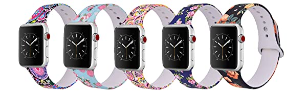 Silicone apple watch band series 5/4/3/2/1 in multiple colors, very comfortable and flexible