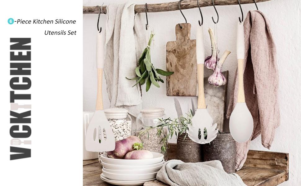 silicone kitchen utensils set