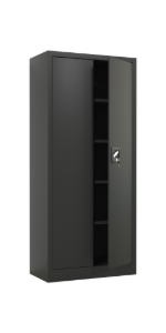 iJINGUR Metal Storage Cabinet, 70.9'' H, Black