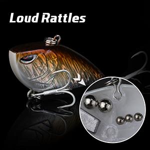 Precise Weighting System Loud Rattles Hard Fishing Lures Tight Wobble Action Lifelike Design Vibe Cranks 1//4oz 3//8oz 1//2oz 5//8oz Bass Fishing Plug Baits RUNCL ProBite Lipless Crankbait
