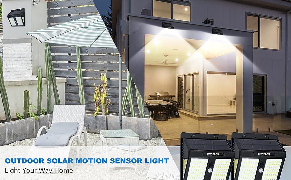 High Quality Outdoor Corridors Rooftops Walls Solar Motion PIR Light 146 LED