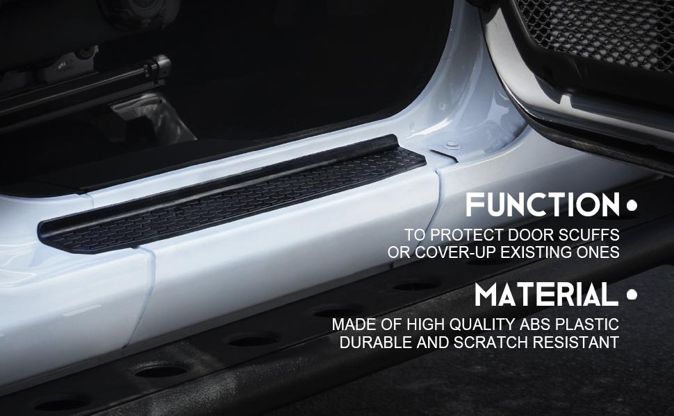 Xprite Door Sill Jam Protective Step Plate Cover for 2018-2019 Jeep Wrangler JL 4 Door