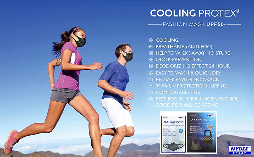 COOLING PROTEX FASHION MASK, UV Protective, Unisex for Running, Cycling, Golf, Driving, School, Work