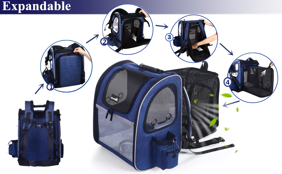 Pecute portable expandable backpack