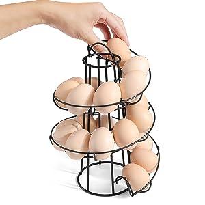 boiler eggs holders storage spiral display skelter countertop top best 10 5 egg dipenser storage