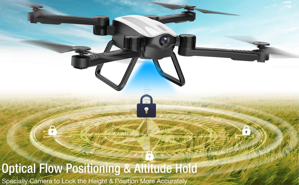 Flashandfocus.com fbc67ff8-26d2-4bbf-a1f8-abd79d66da17.__CR0,0,970,600_PT0_SX970_V1___ SIMREX X900 Drone Optical Flow Positioning RC Quadcopter with 1080P HD Camera, Altitude Hold Headless Mode, Foldable FPV…