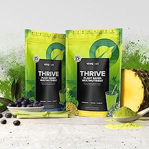 Vivo Life: Thrive, living multinutrient, healthy fitness supplement