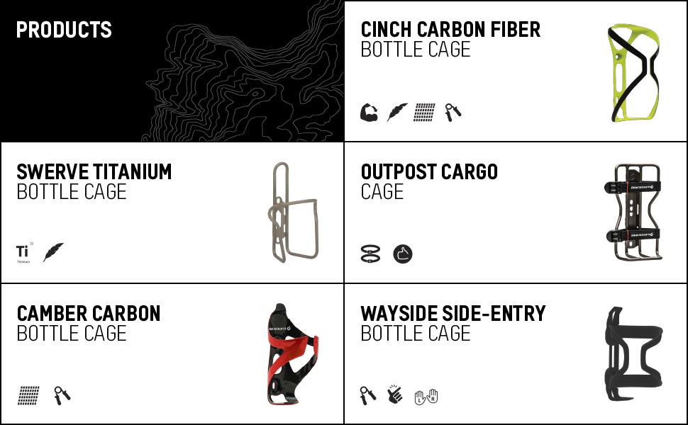blackburn bike cinch carbon fiber swerve titanium outpost cargo camber wayside bottle cage