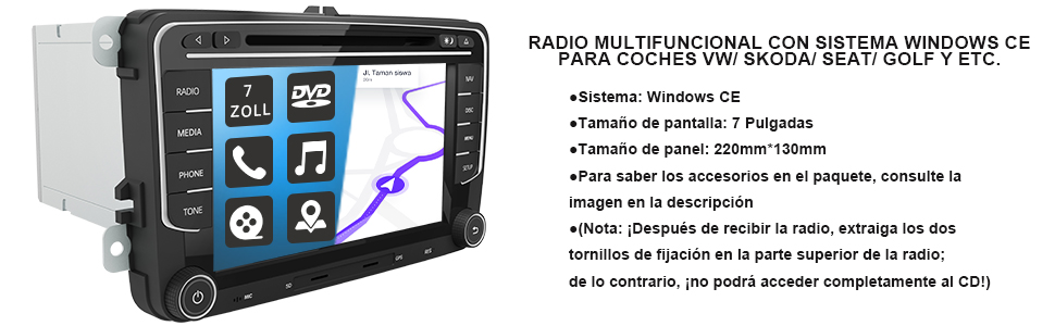 radio EOS TRANSPORTER T5 Cupra Seat Toledo Seat Leon Seat alhambra Seat Altea Skoda Fabia Skoda Yeti