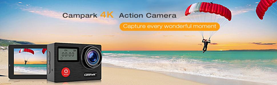 Campark X20 4K Aksiyon Kamerası