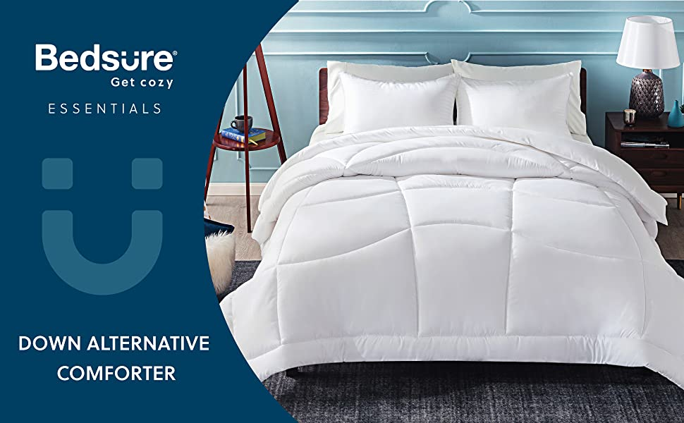 get cozy with the White Down Alternative Comforter