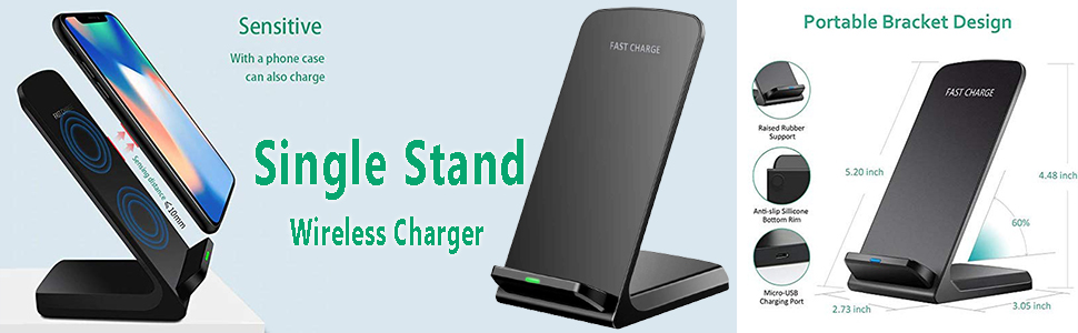 Single stand wireless charger