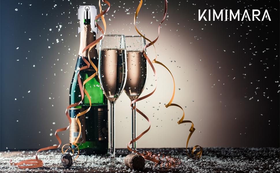 Compra Kimimara Tapón de Cierre para Botella de Champán,Pack de 3 ...