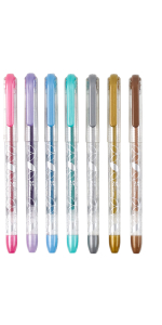 Colorful Metallic Gel Pens  - 7-Pack