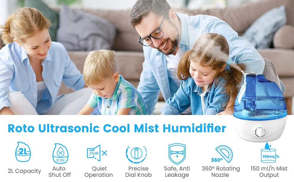 Roto Ultrasonic Cool Mist Humidifier