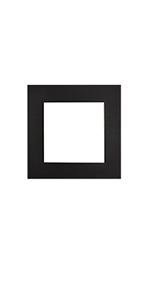 12x12 for 8x8 single black mat pre cut bevel white core for photo matting