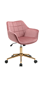 duhome home ofiice chair pink