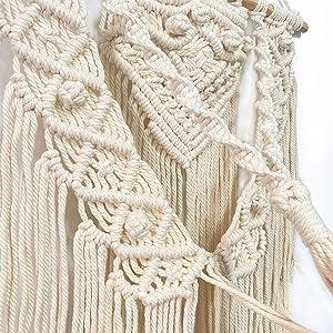 Multi layer tier cotton macrame hanging