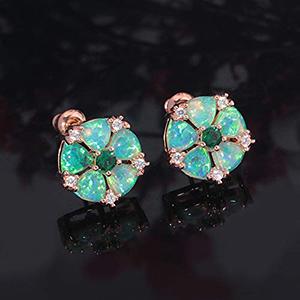ladies flower earrings