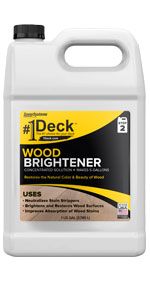 wood brightener, deck brightener, fence brightener, wood bright