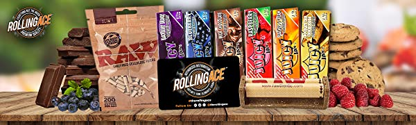 Juicy Jay's Rolling Papers Dessert Flavours Slim Cellulose Filters Joint Roller Rolling Ace Scoop