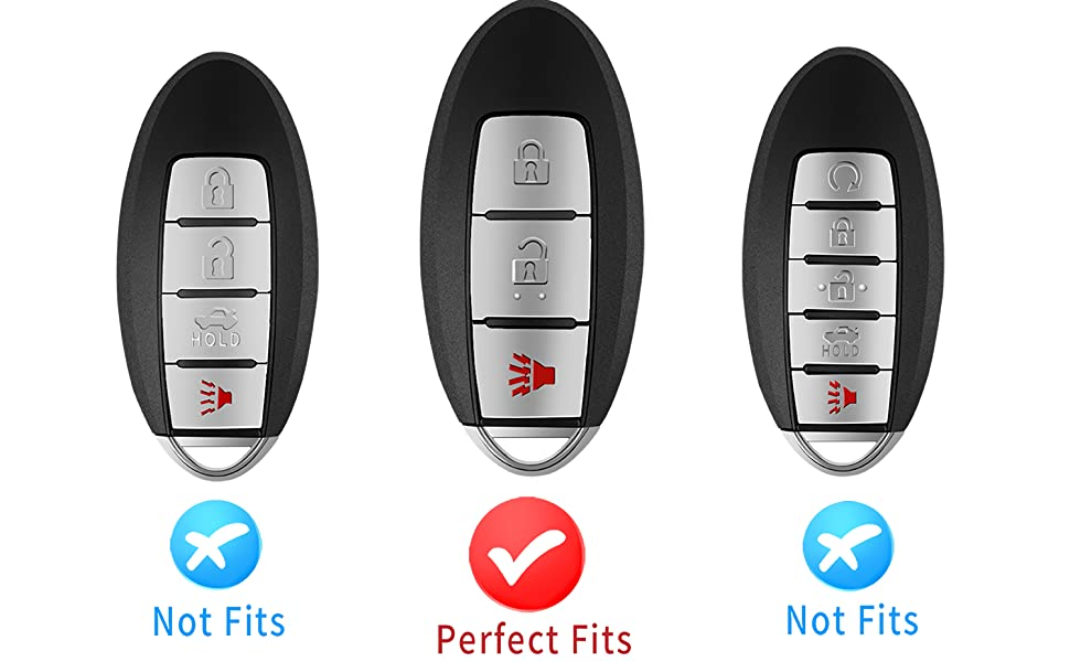 3 Buttons Tukellen for Nissan Key Fob Cover for Infiniti Key Fob Cover Case