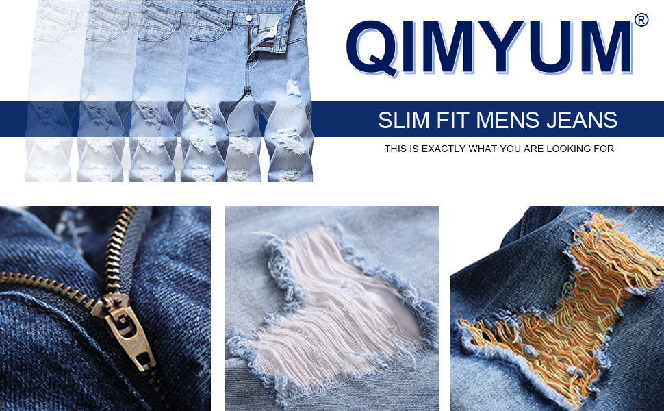 men's slim fit ripped jeans ripped jeans for men fashion distressed jeans men