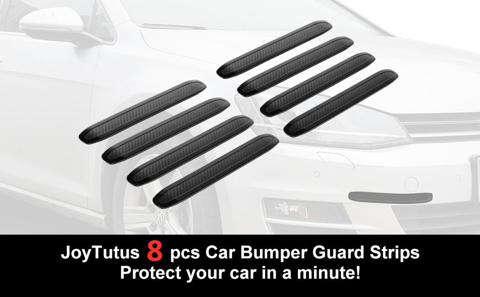 Ambienceo 2Pcs Black Car Front Back Bumper Protector Anti-rub Streamline Guard Cover Sticker Strips