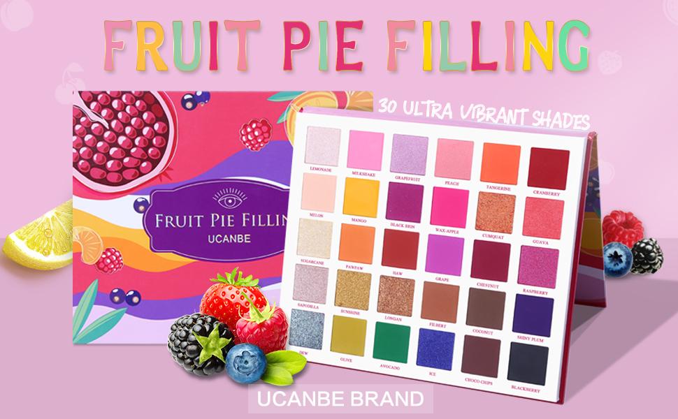 30 colors fruit pie filling eyeshadow palette