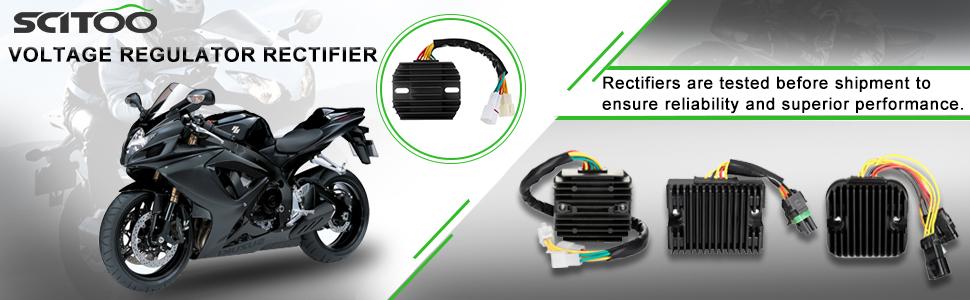 SCITOO Regulator Rectifier Replacement Voltage Regulator Rectifier Fit for 2009-2011 Suzuki King Quad 500 2008-2009 2011 Suzuki King Quad 750 2002-2007 Suzuki Vinson 500 2002-2006 Yamaha Grizzly 660