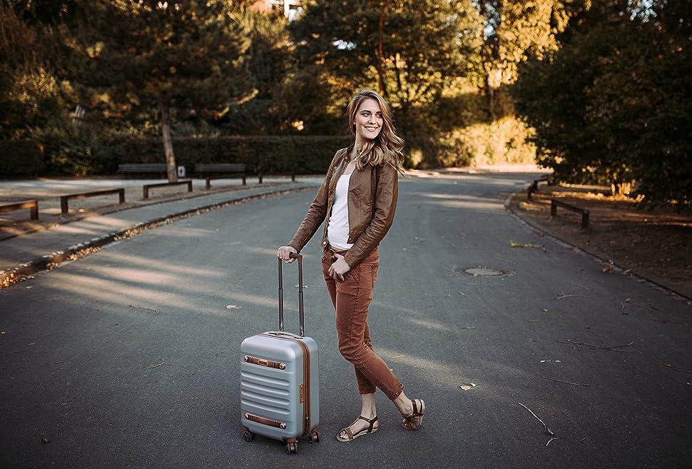 reisekoffer 4 rollen trolley S'Cure Eminent Move Air pilotenkoffer kofferschutzhülle hartgepäck