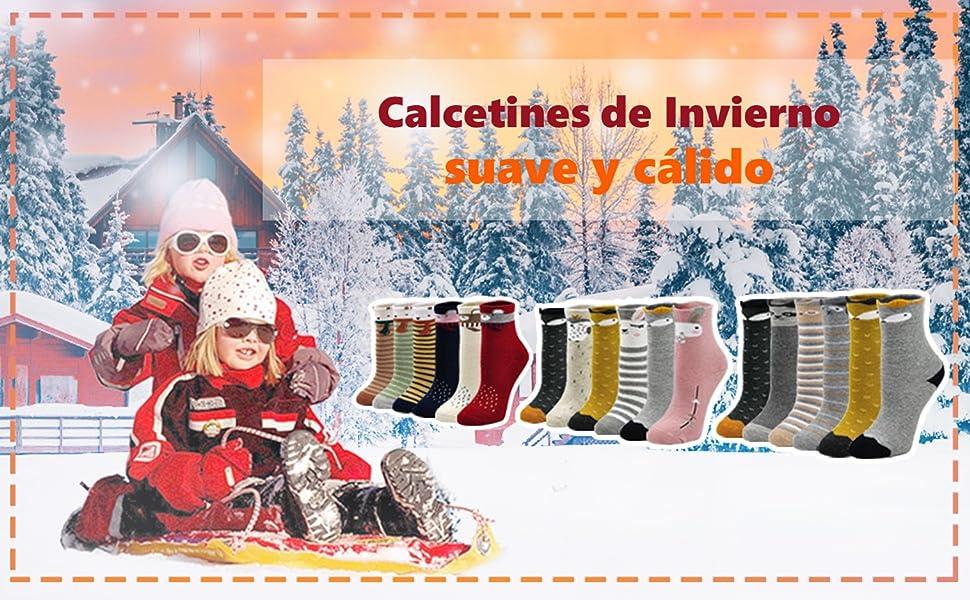 Niños Calcetines Invierno Niña
