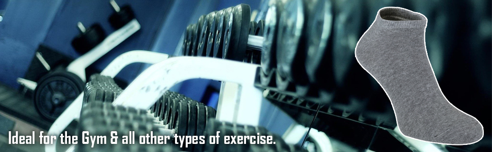 6 Pack Mens Cotton Ankle Low Cut Short Quarter Gym/Trainer Socks