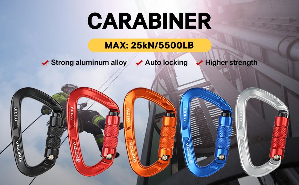 auto lock climbing carabiner