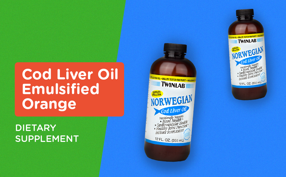 Twinlab Norwegian Cod Liver Oil, Unflavored, 12 Fluid Ounce